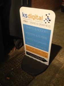 KSDigital Print, Signs & Graphics - Ecoflex lite pavement sign