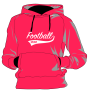 Football Front Pink